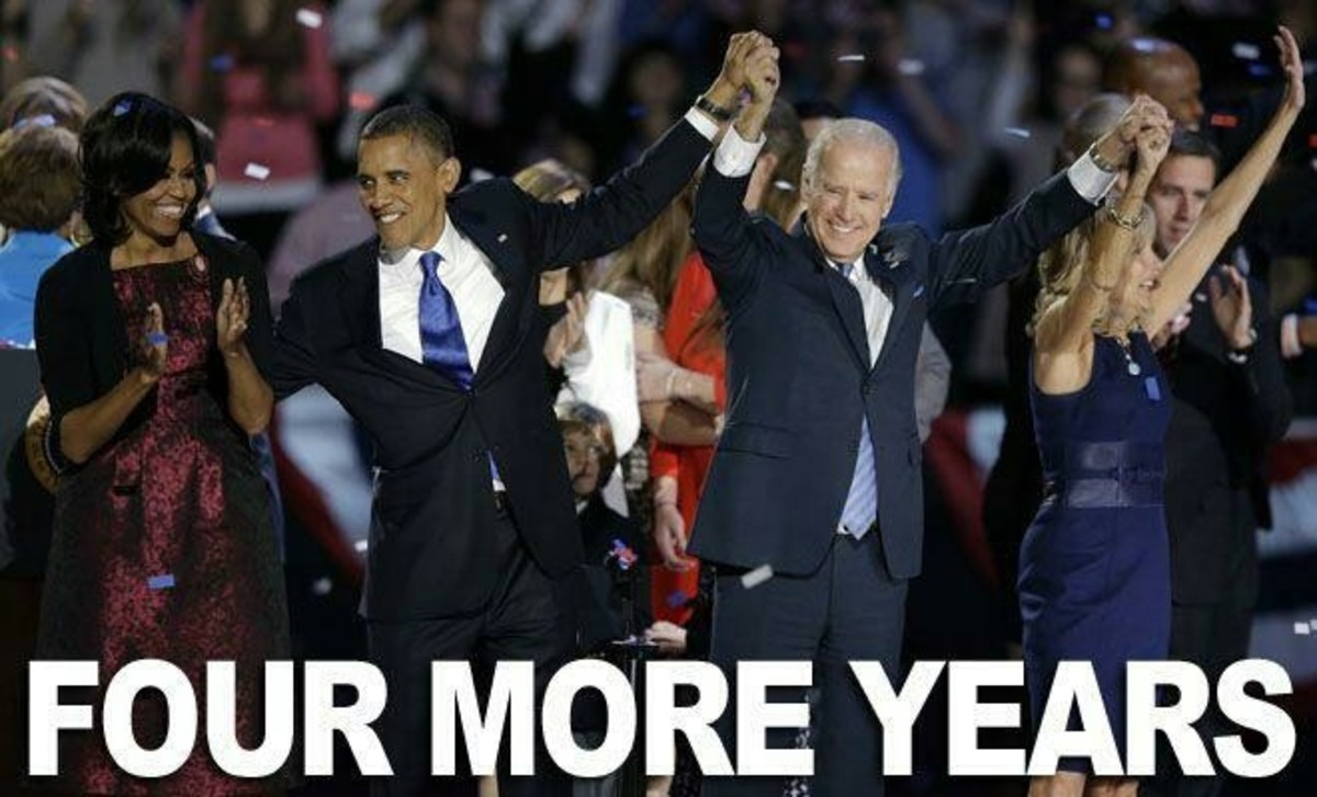Four more years for Obama and Biden of the Democratic Party