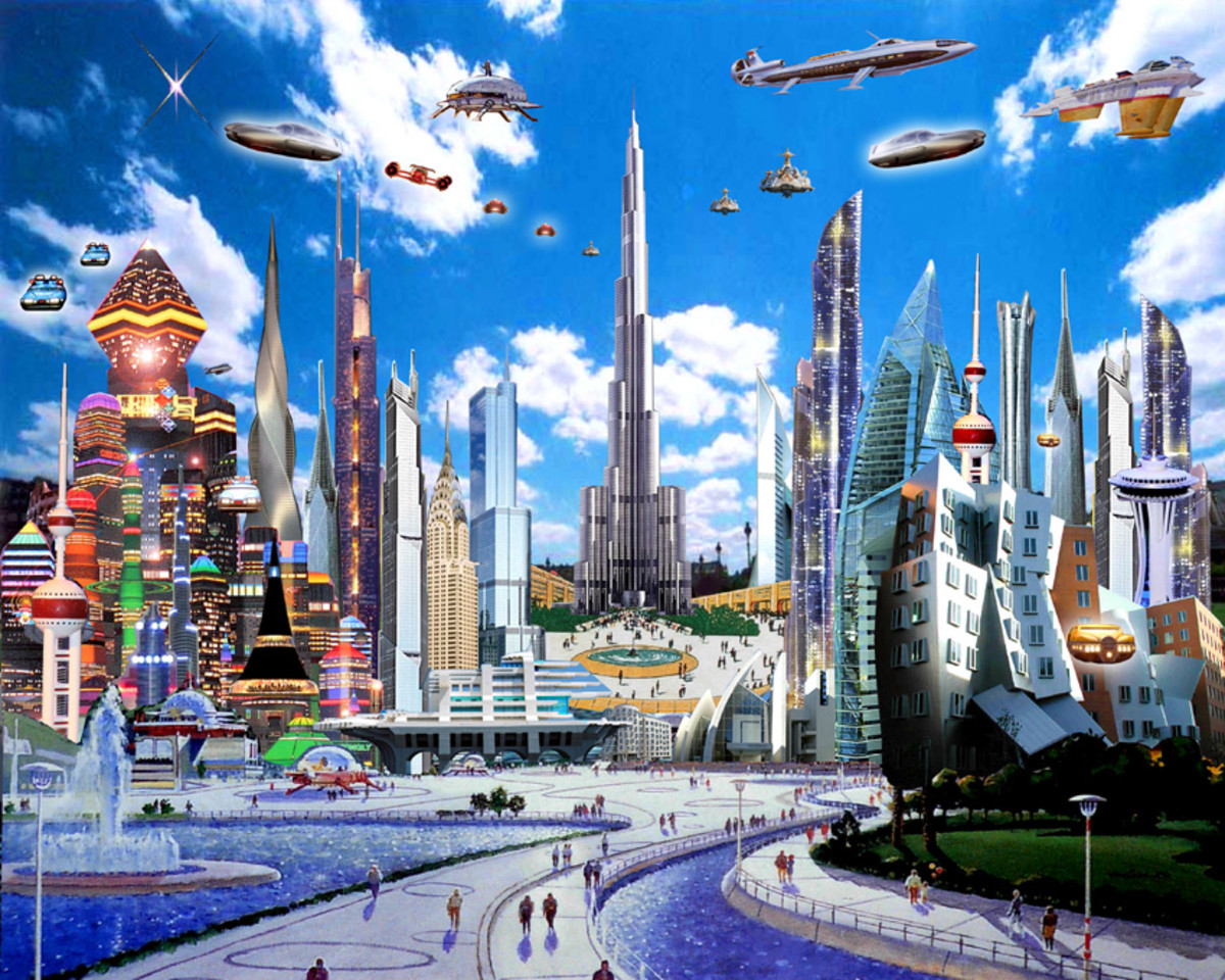 "Future Cities look Will look like the TV Show, ""The Jetsons""..."