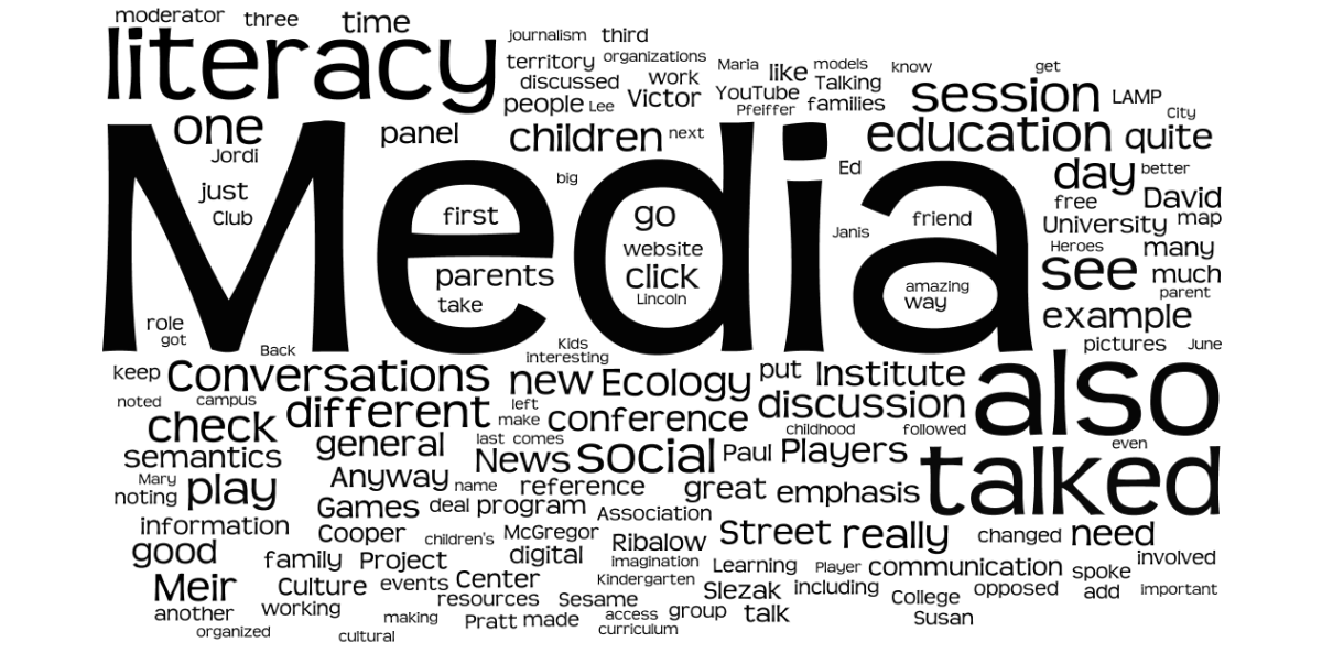 Emerging words and word matrixes within the media media cacophony