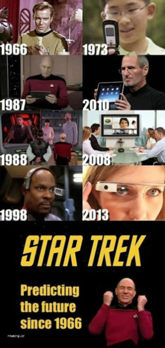 """Star Trek provides a prime example of """"what once was fantasy, is now reality."""" Things that many scientists say are impossible today may never come to pass, but some will. And that's one of the most awesome things about the scientific method: the read"""