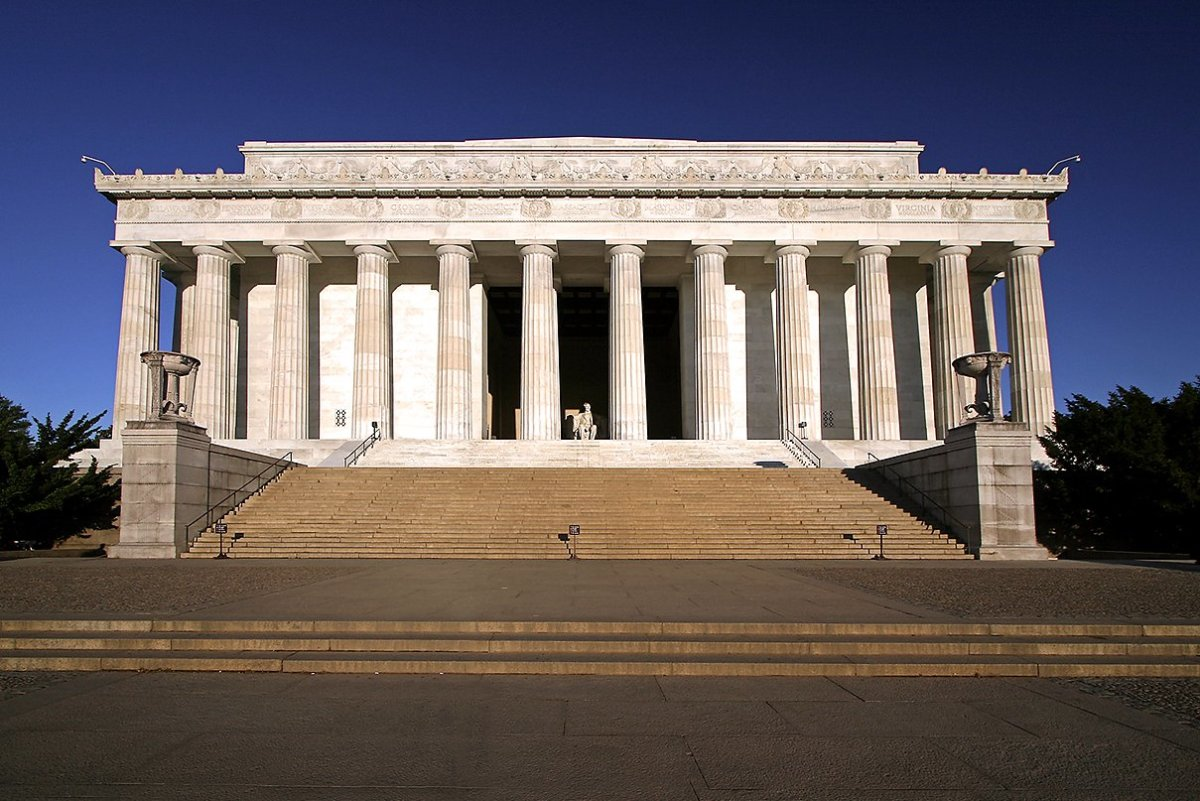 LINCOLN MEMORIAL HAS MANY RELIGIOUS WORDS ENGRAVED INTO ITS WALLS; WE'LL TAKE IT AS IT IS