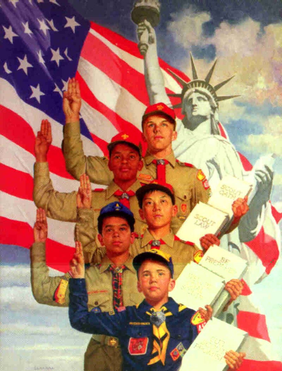 THE DESPISED BOY SCOUTS CAN COME WITH US
