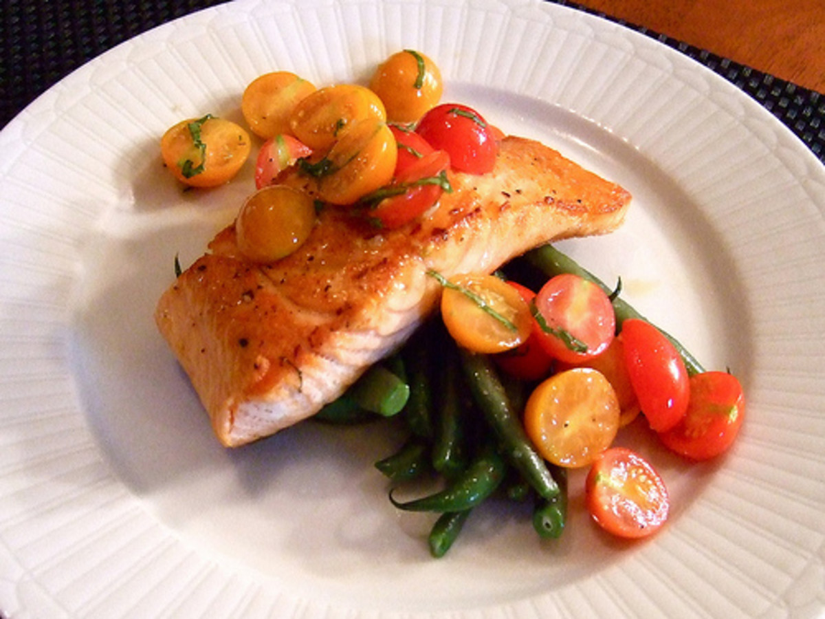 Dr Perricone advocates salmon as an essential food for the skin