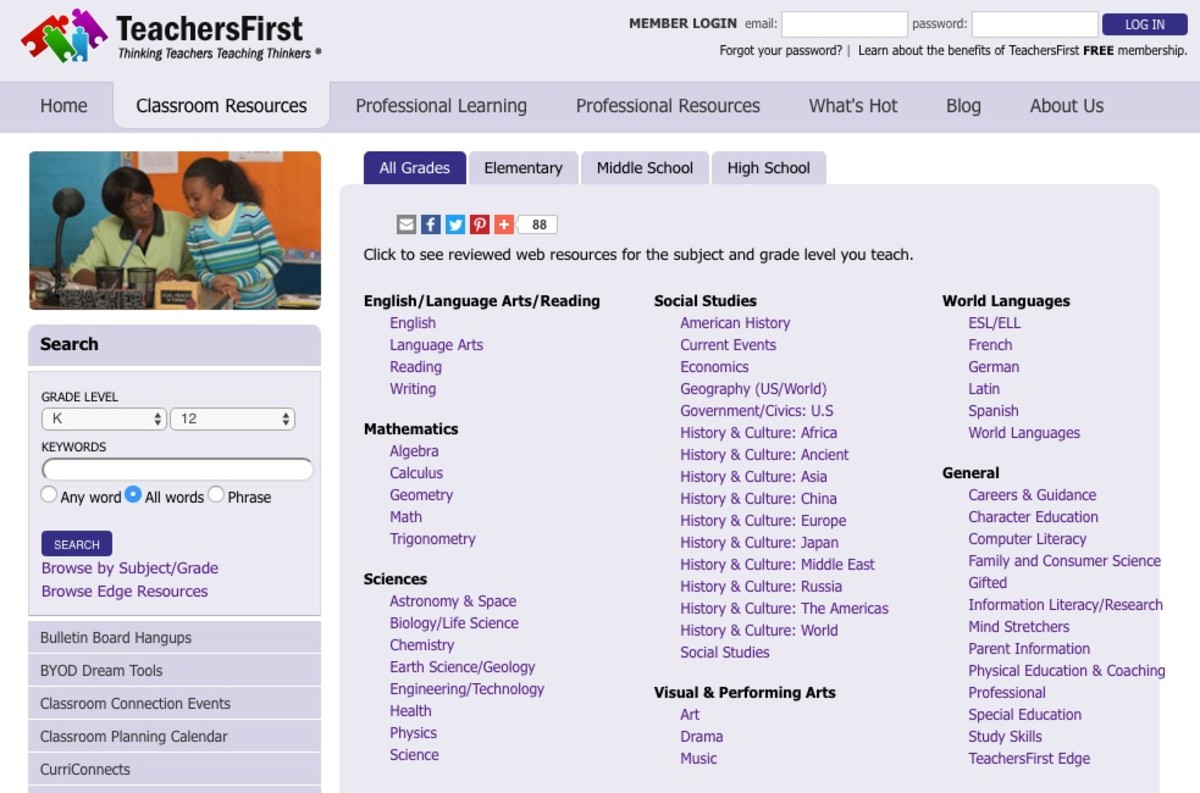 TeachersFirst Classroom Resources