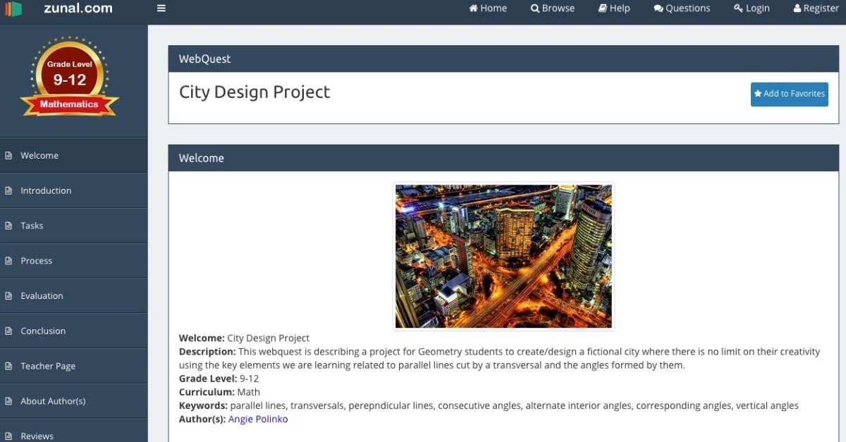 Zunal WebQuest Maker