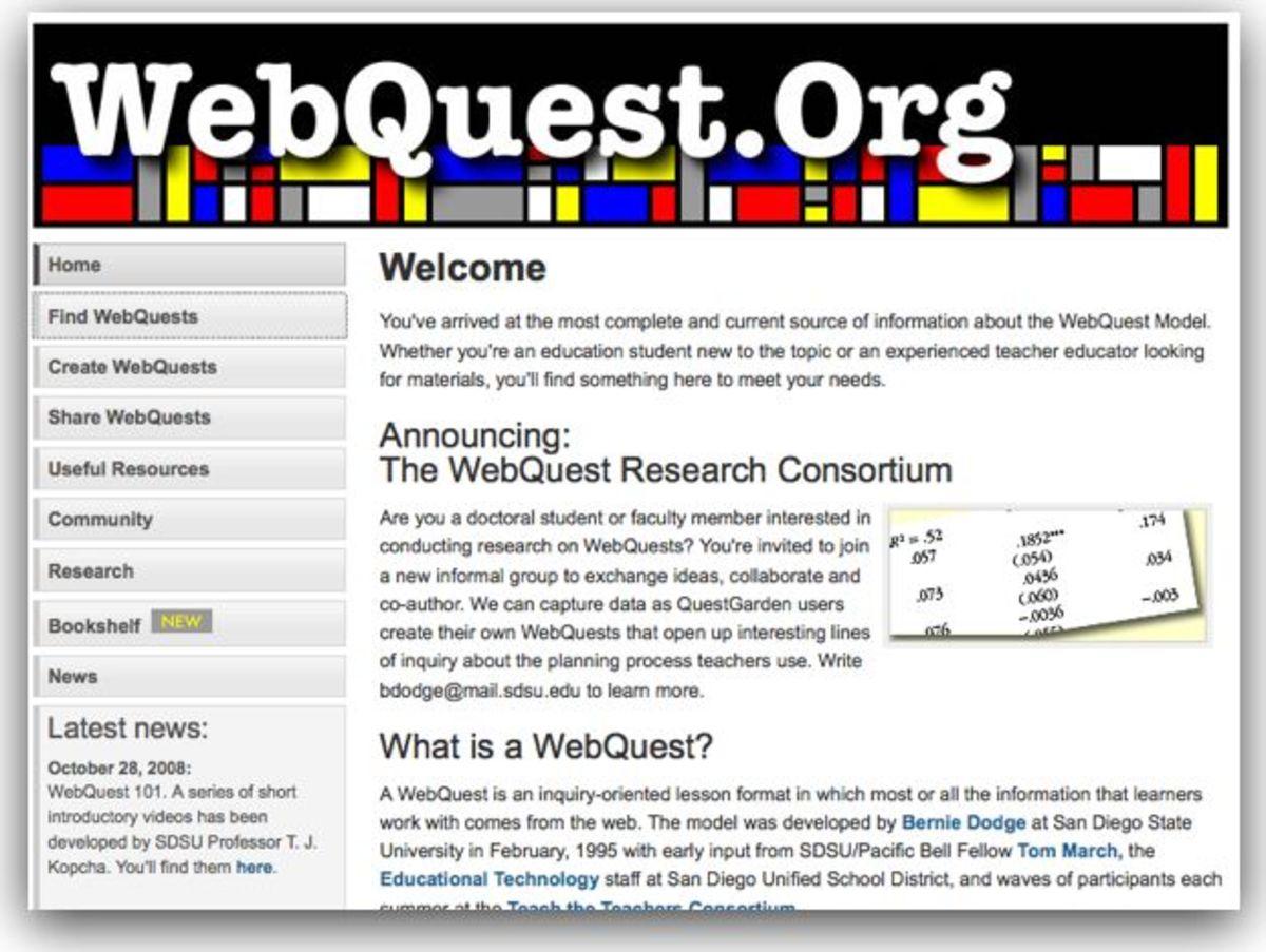 Webquest.org Lesson Plans