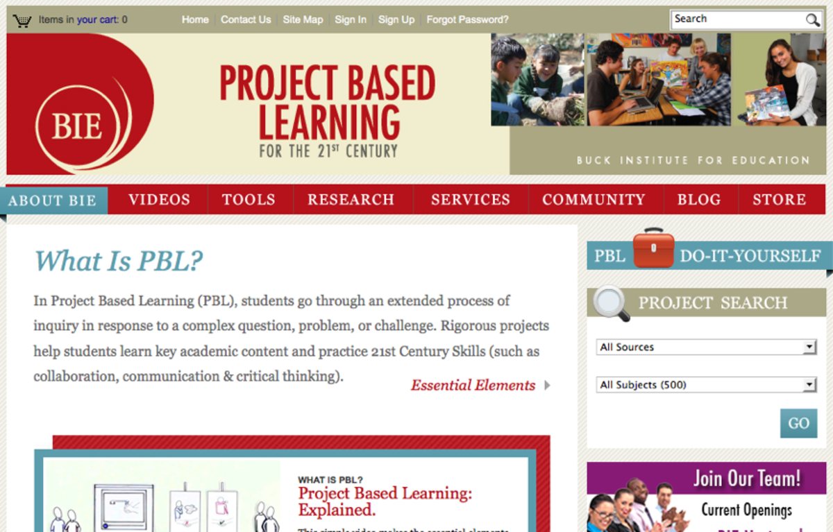 BIE Project Based Learning Lessons