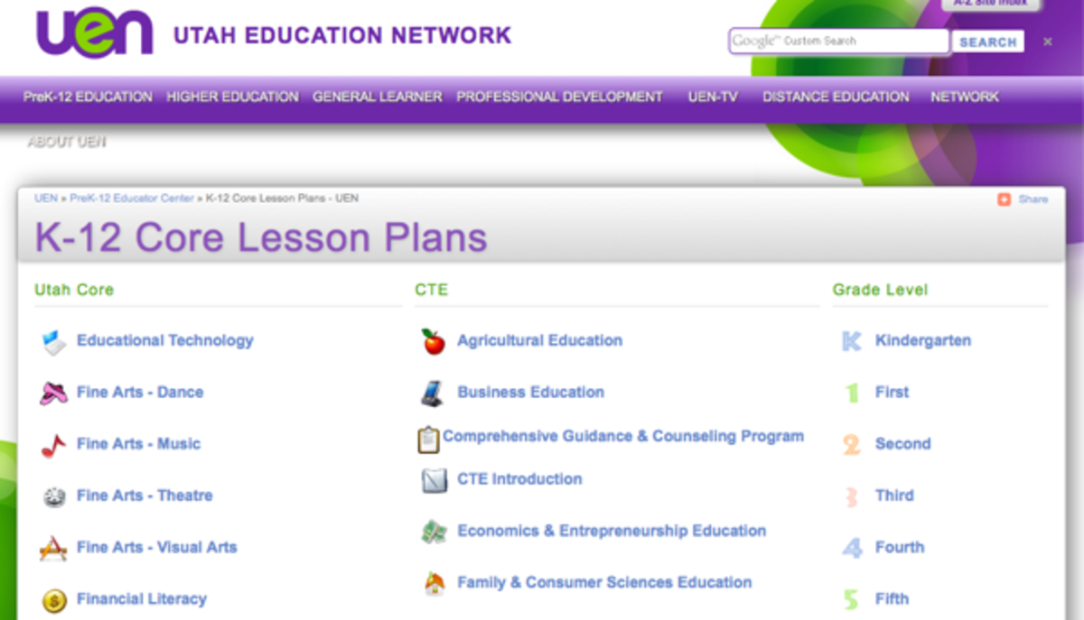 Utah Education Network Lesson Plans