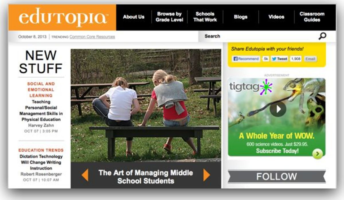 Edutopia Lesson Resources