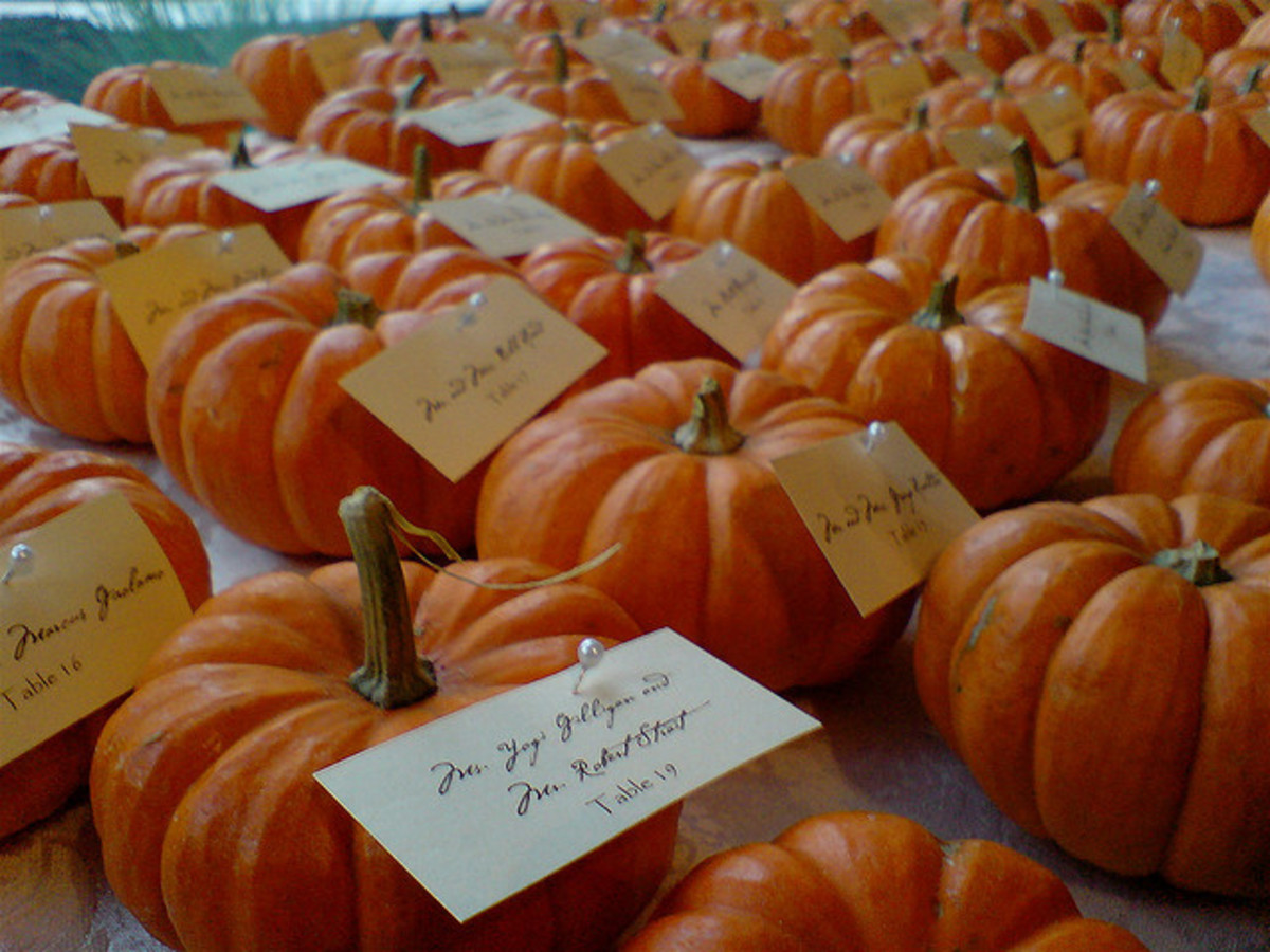 Pumpkin place card holders.