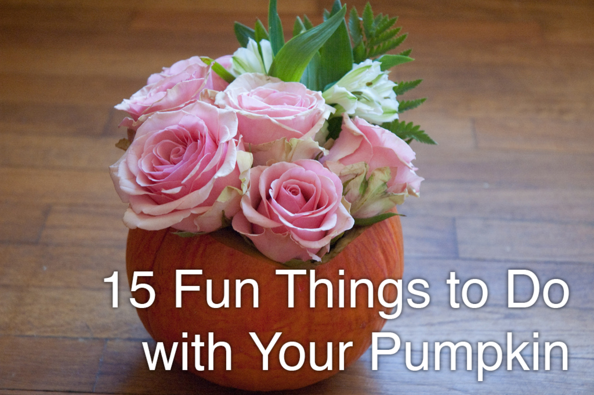 A vase is just one craft you can make out of your pumpkin.