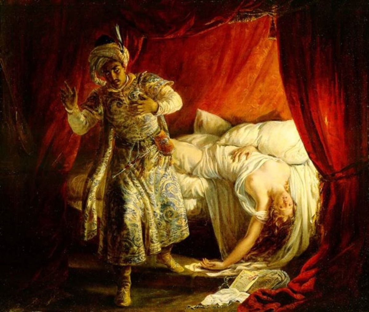 Othello and Desdemona by Alexandre-Marie Colin