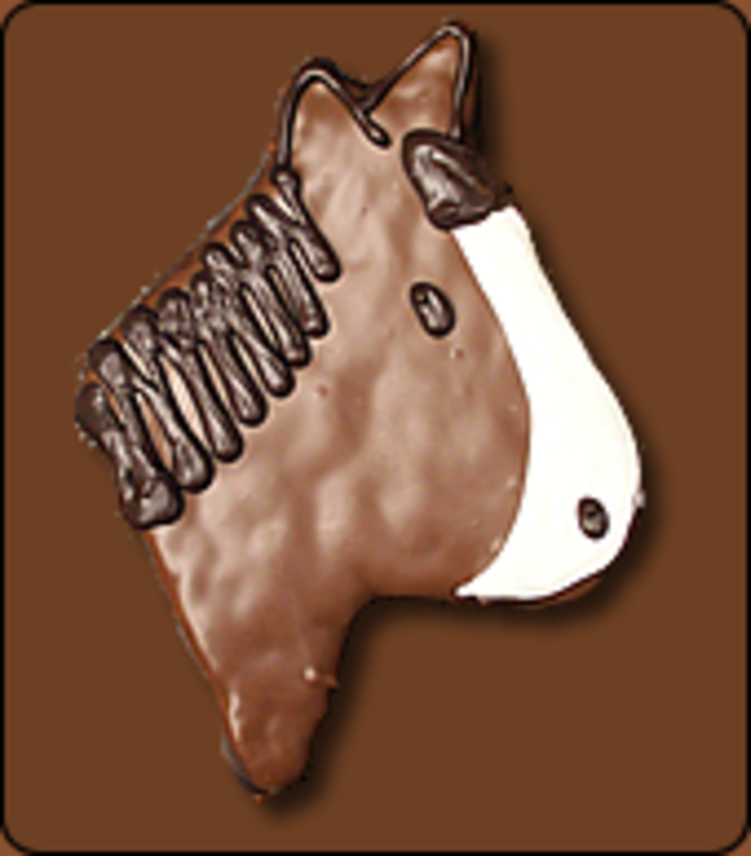 Chocolate Covered Rice Krispy Treat Horse