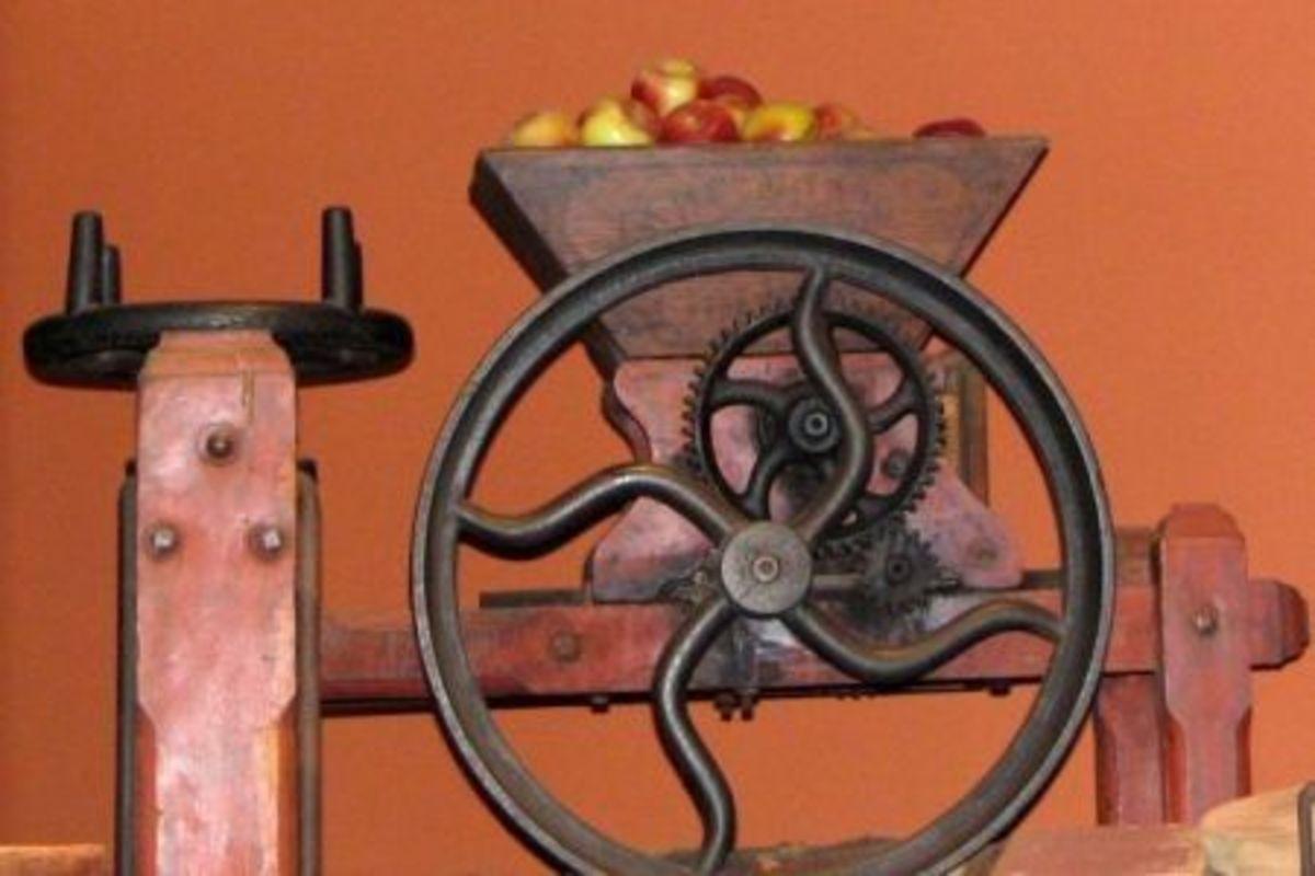 antique apple cider press