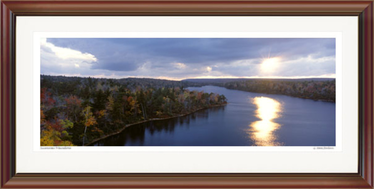 Late Autumn Sun, Lake Awosting. Courtesy G. Steve Jordan. Gallery #P-oo92.