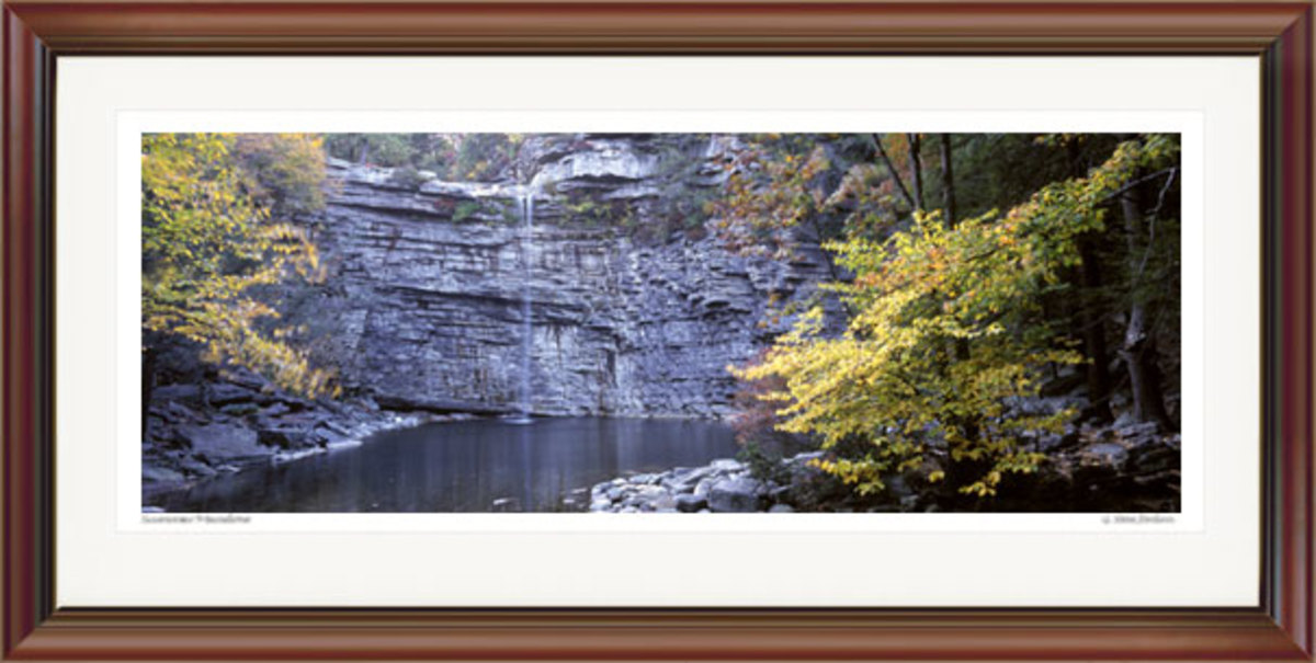 Lake Awosting Falls, Autumn Panoramic. Gallery #P-0094.