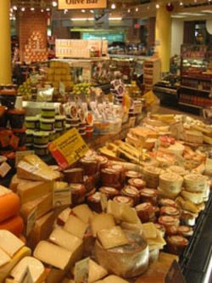 A larger variety of local and imported cheeses