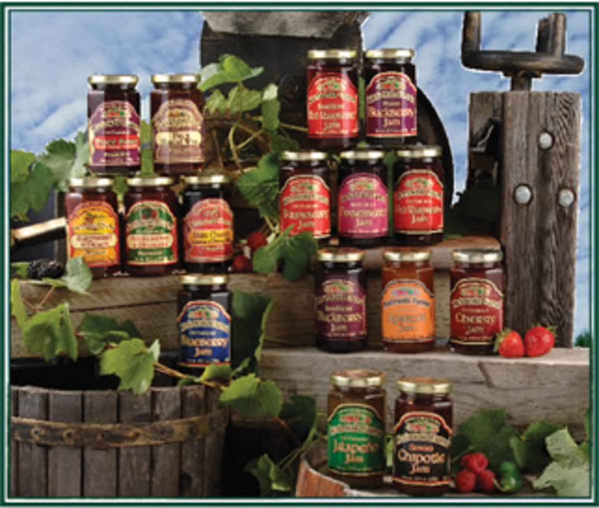 A wide variety of jams and preserves