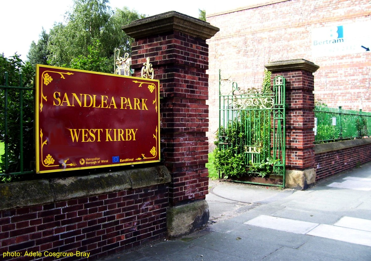 The entrance on Grange Road/Meols Drive