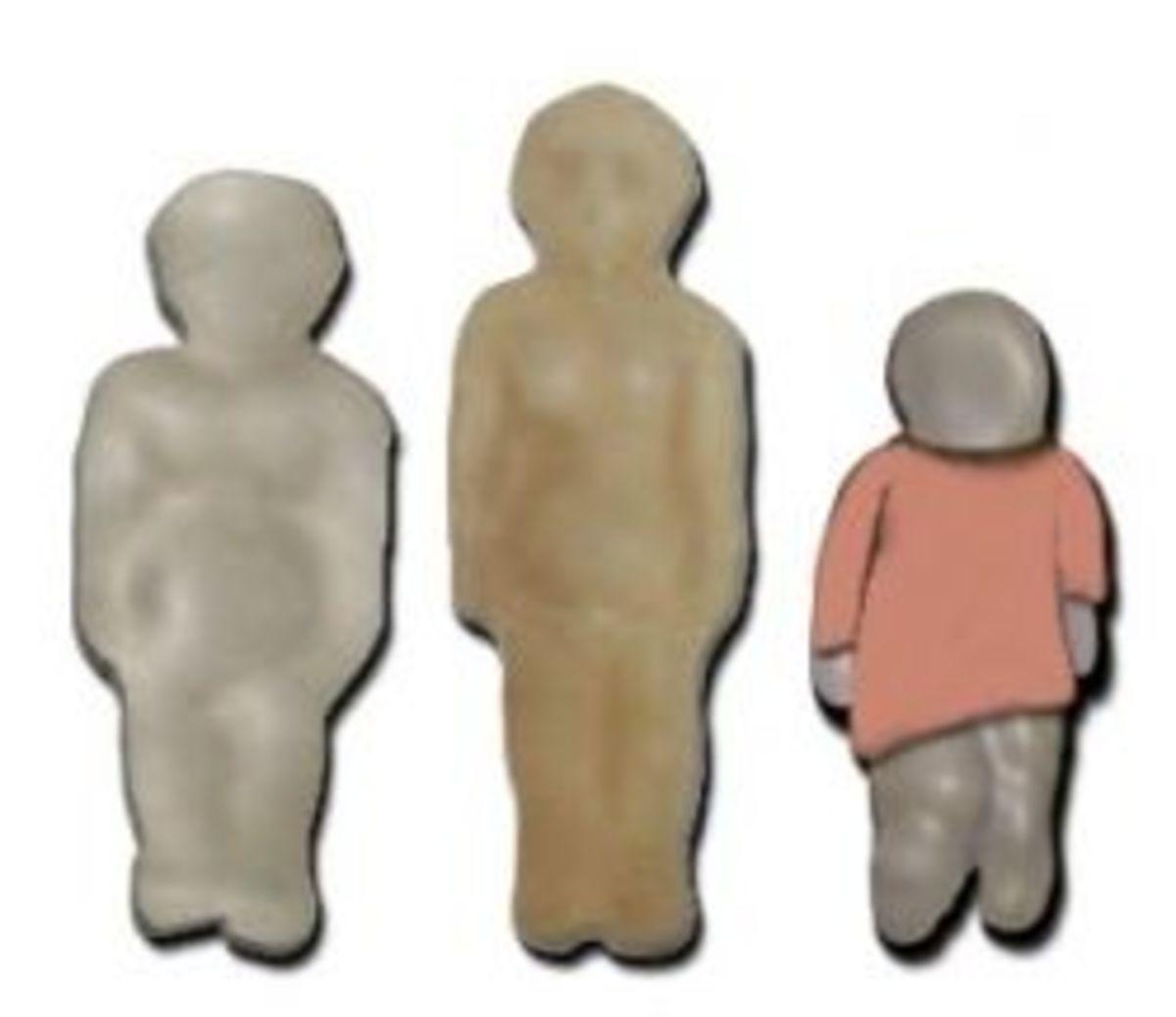 Wax Voodoo dolls. Photo copyright 2008 Denise Alvarado, All rights reserved worldwide.