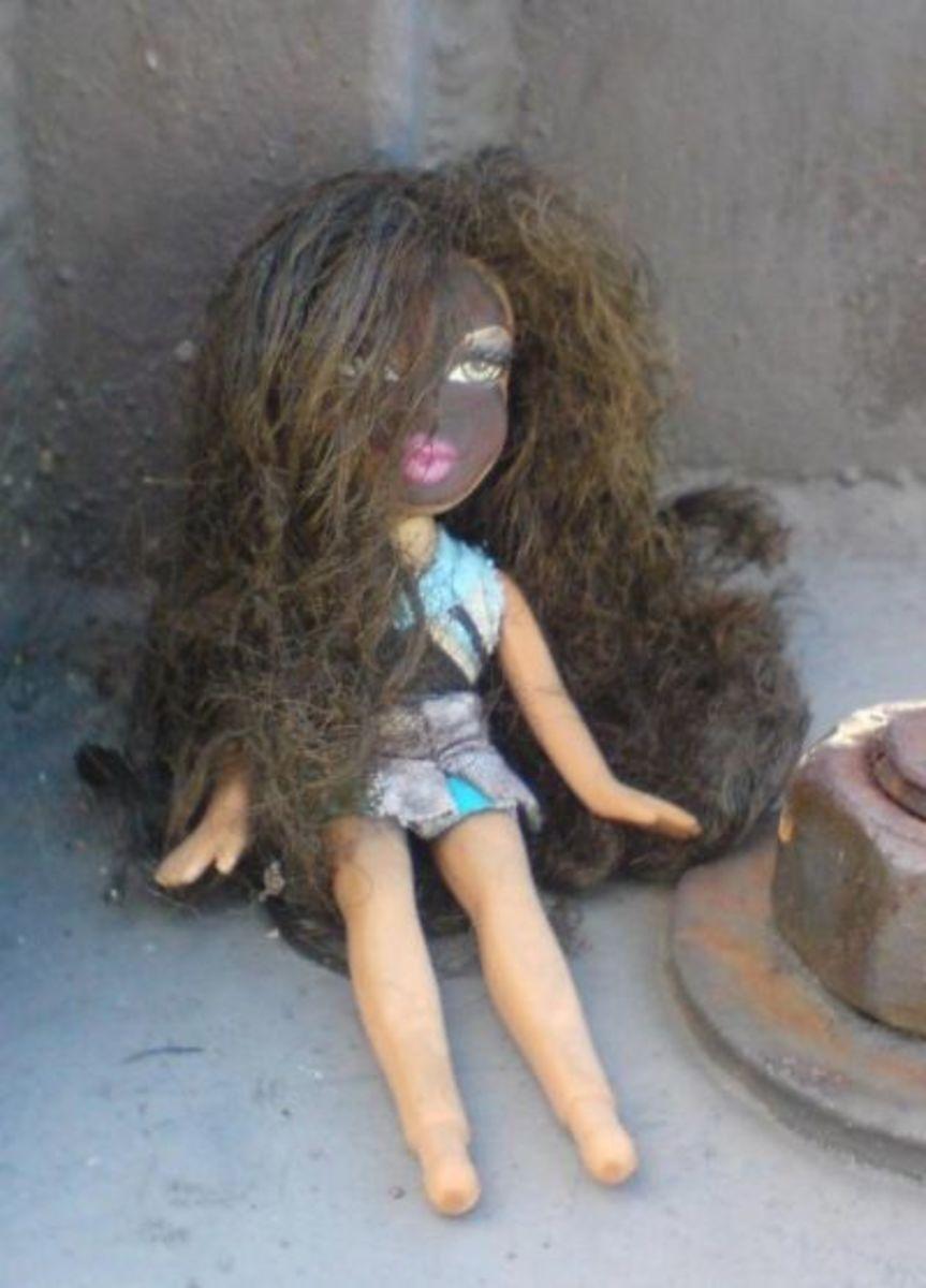 Cursed Voodoo Brat Doll. Photo copyright 2008 Denise Alvarado, All rights reserved worldwide.