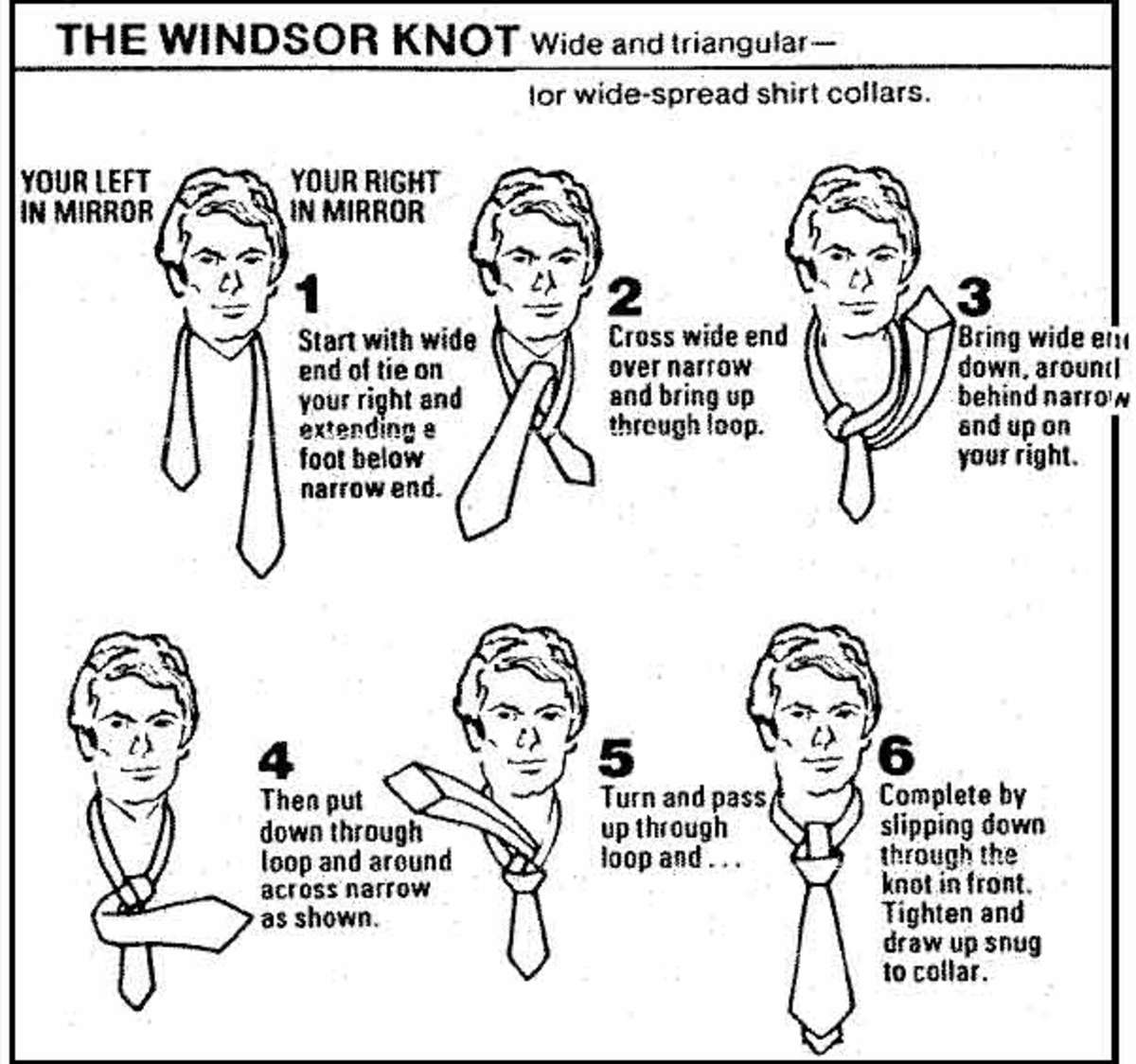 How to tie a windsor, step by step instructions.