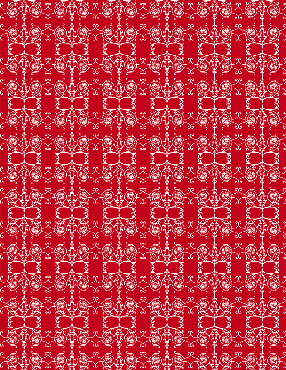Red and white Victorian scroll work Christmas scrapbook paper