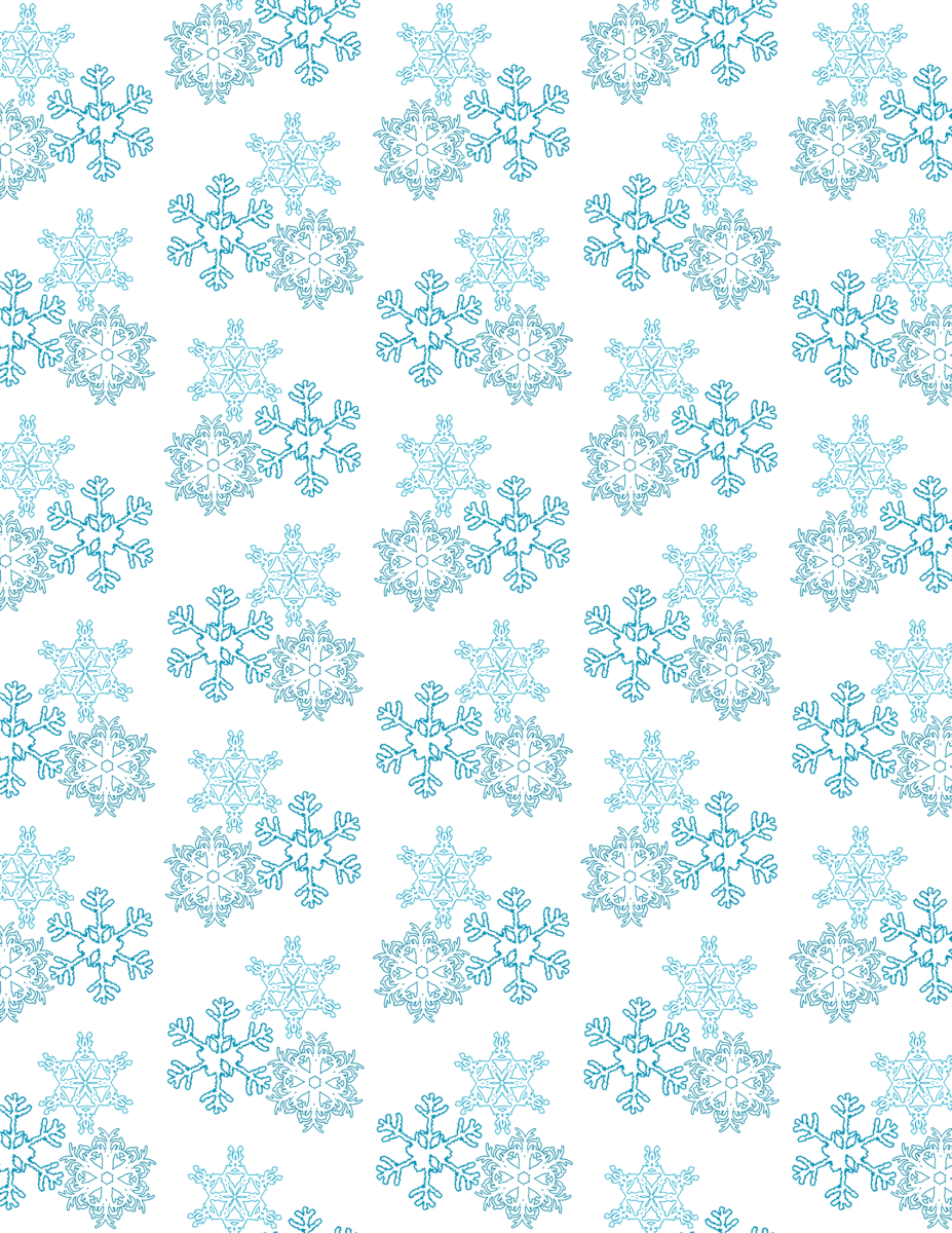 Falling snowflakes winter scrapbook paper -- white background