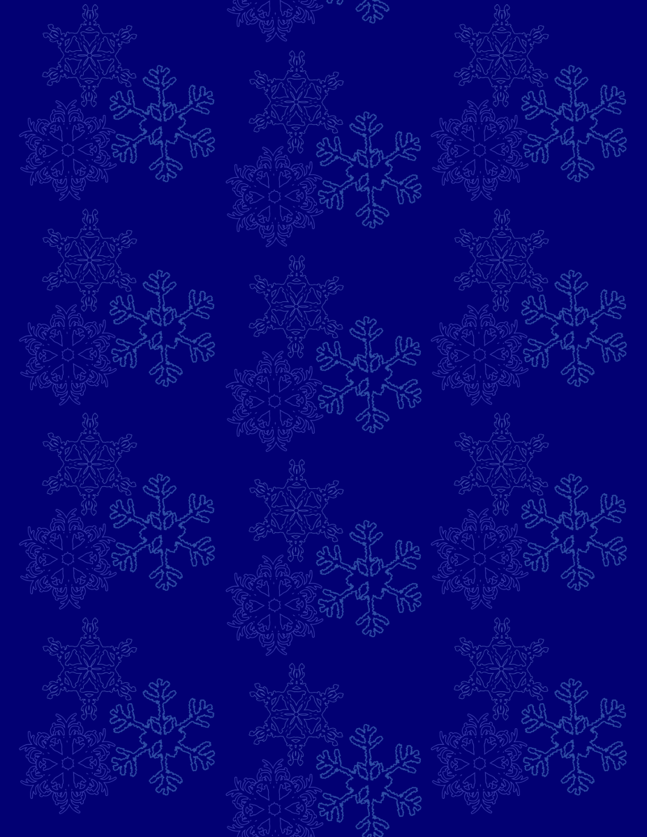 Falling snowflakes winter scrapbook paper -- blue background