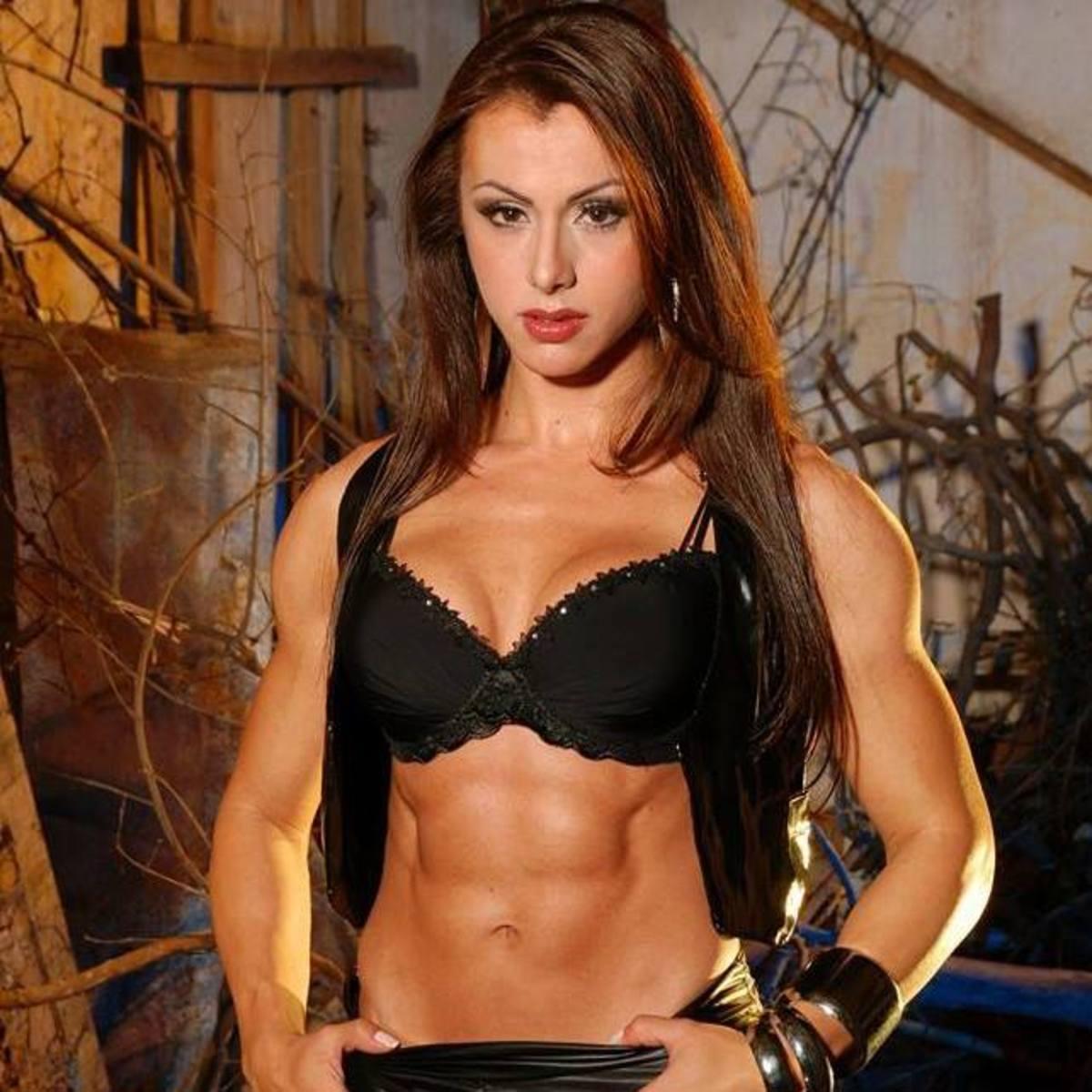 Brazilian female bodybuilder and fitness model Marjorine Cardoso