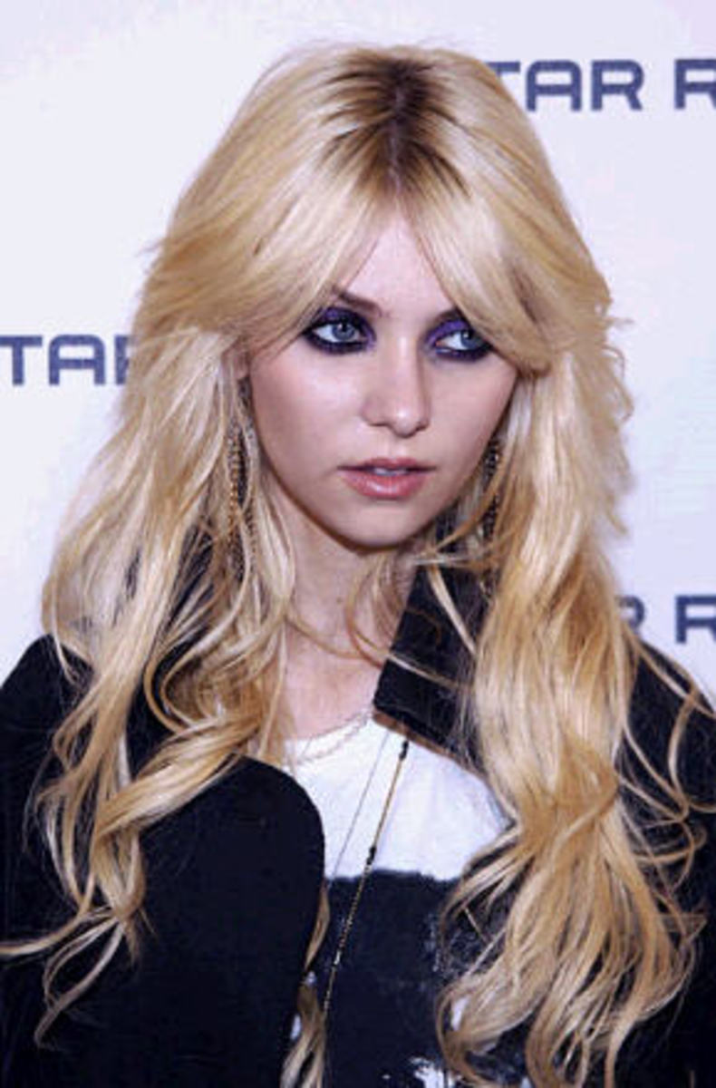 Taylor Momsen 2015 Long Blonde Hair Extensions for Girls