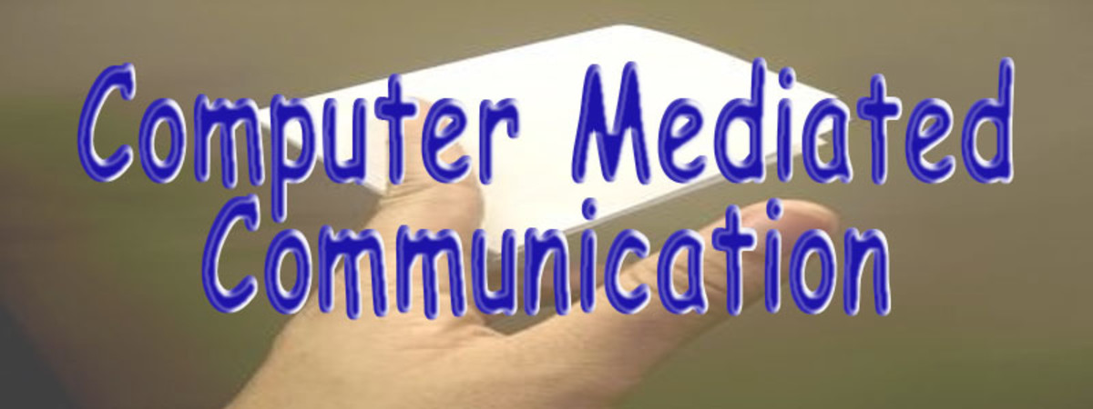 Computer Mediated Communication is simply other humans talking to other human beings over the computer