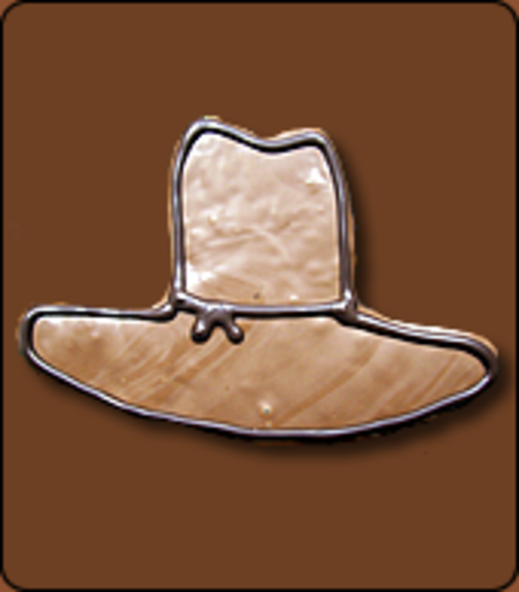 Chocolate Covered Rice Krispy Treat Cowboy Hat