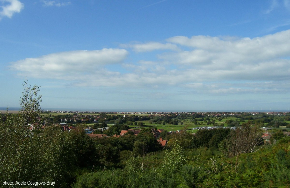 The view from Grange Hill to Hoylake.  Look closely and you can even see the local football team at play.