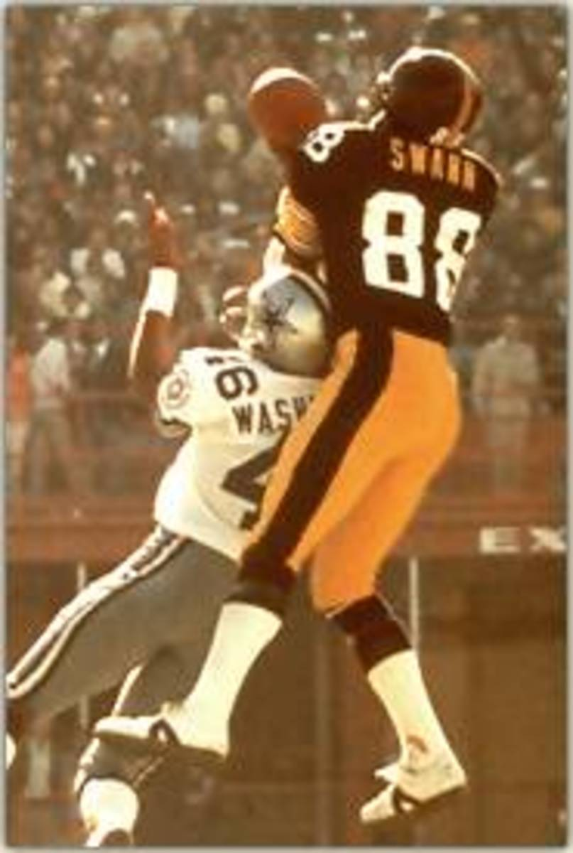 Pittsburgh Steelers Lynn Swan catch in SuperBowl X against the Dallas Cowboys