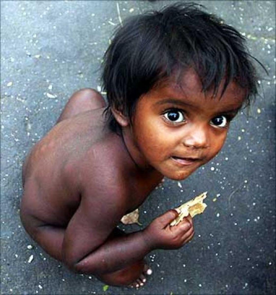Children In The Indian Slums
