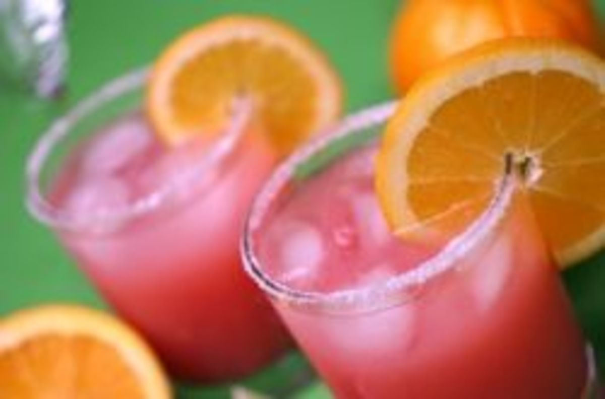 Frosted Pink Punch Drinks