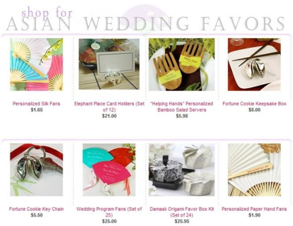 Asian Wedding Favors