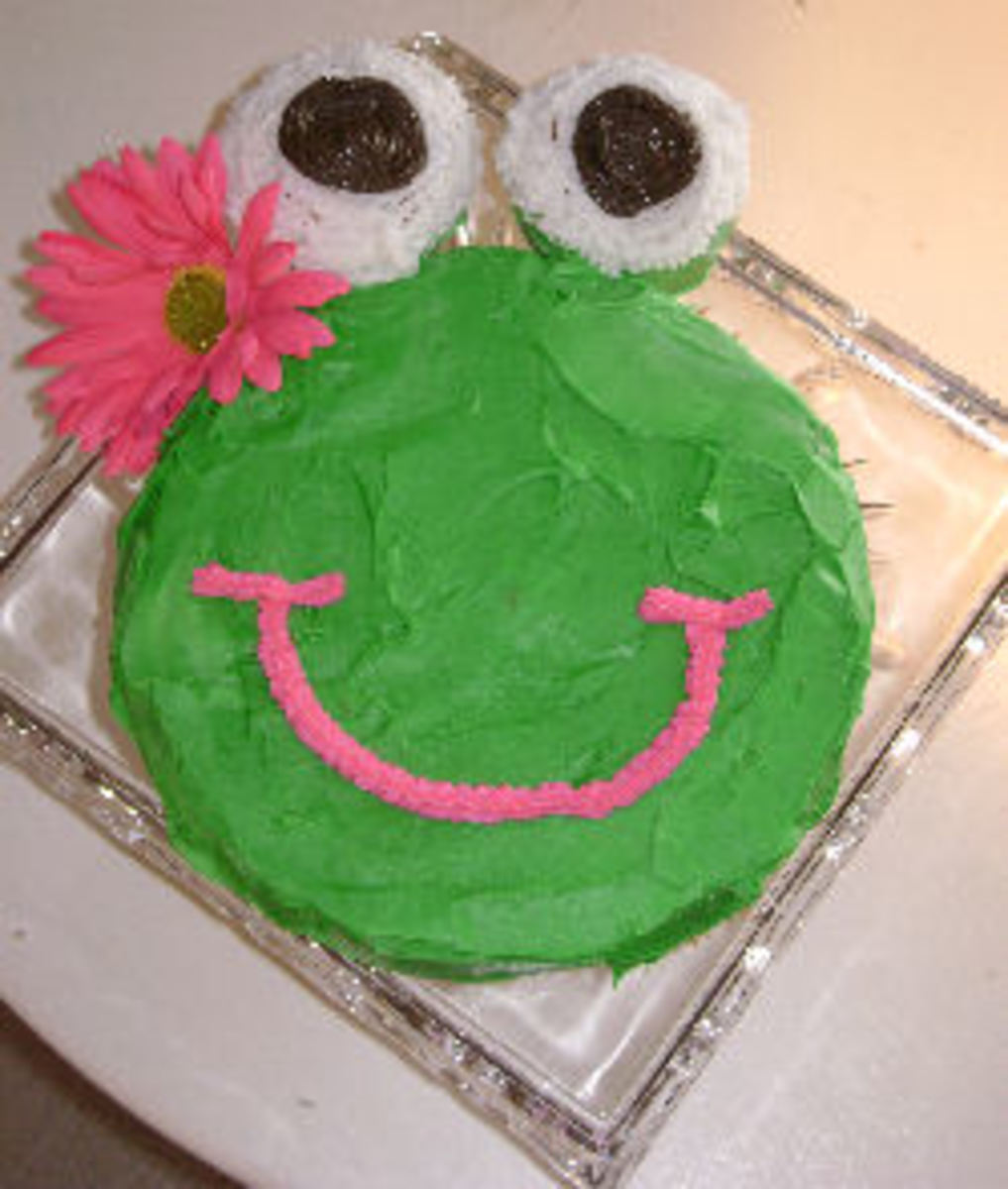 Frog Birthday Cakes and Cupcakes