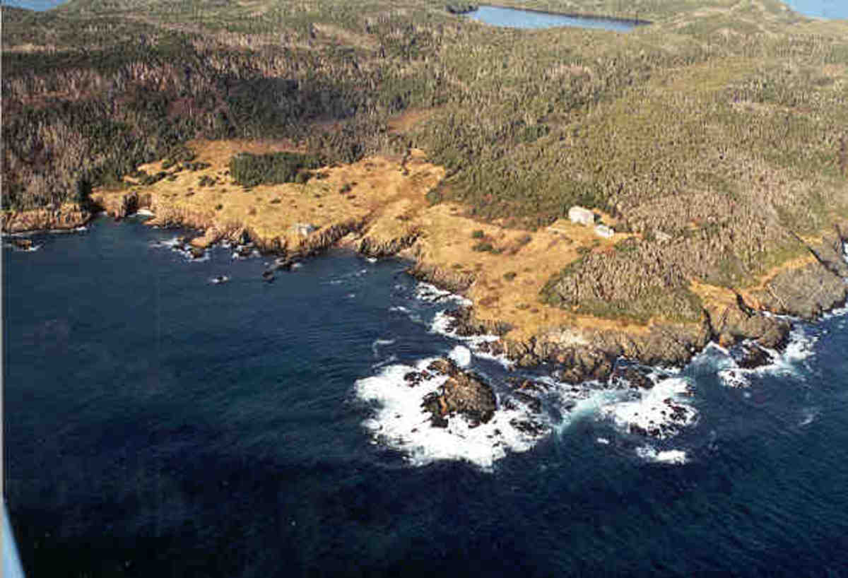 Atlantic Cove at St. Paul's island by air