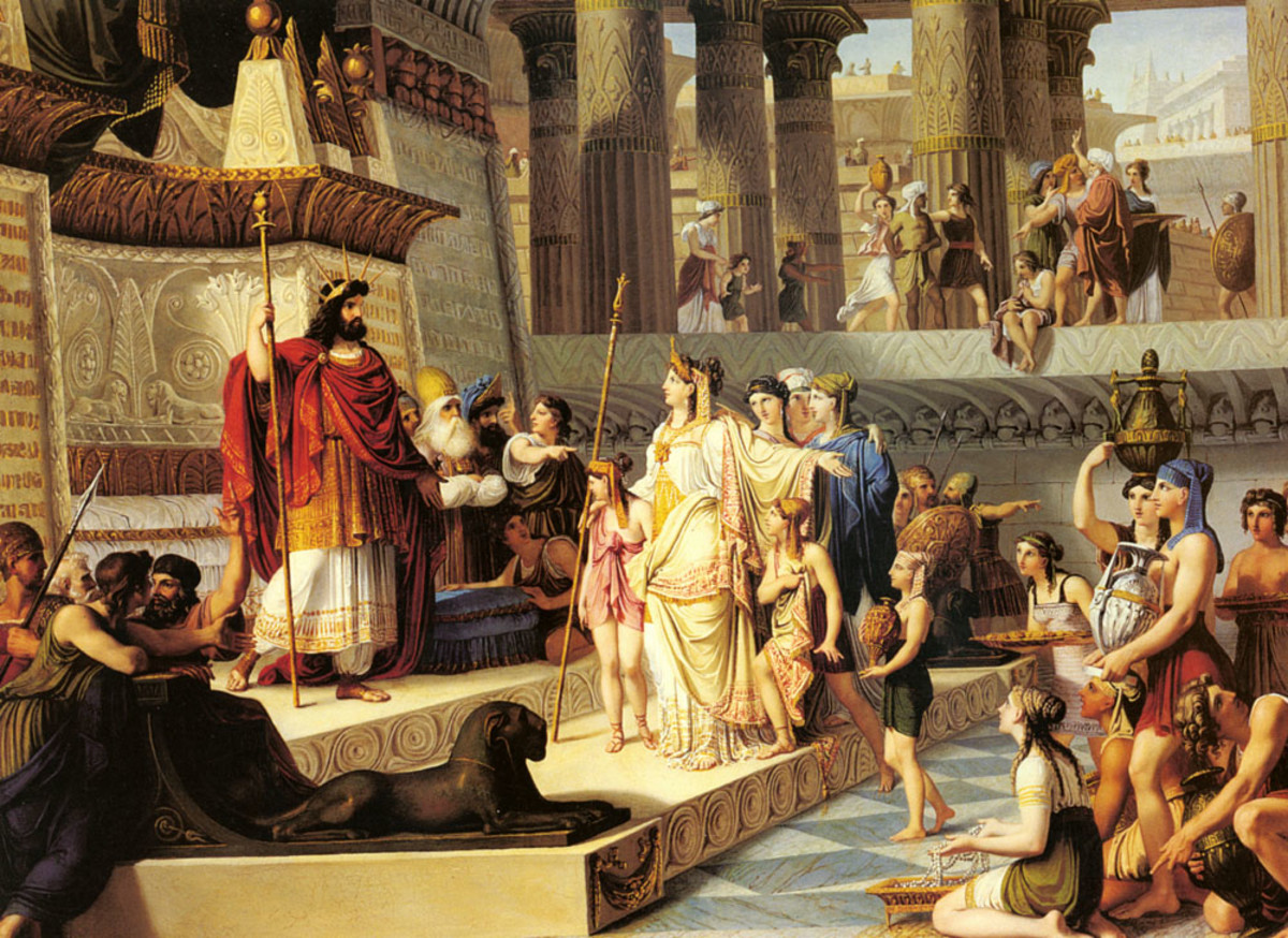 """KING SOLOMON AND THE QUEEN OF SHEBA"" AS PAINTED BY GIOVANNI DEMIN IN 1824"