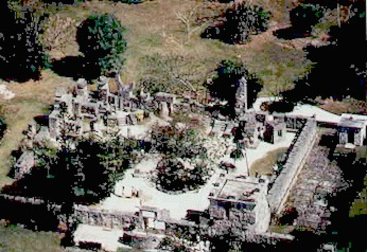 aerial view of the Leedskalnin's Coral Castle