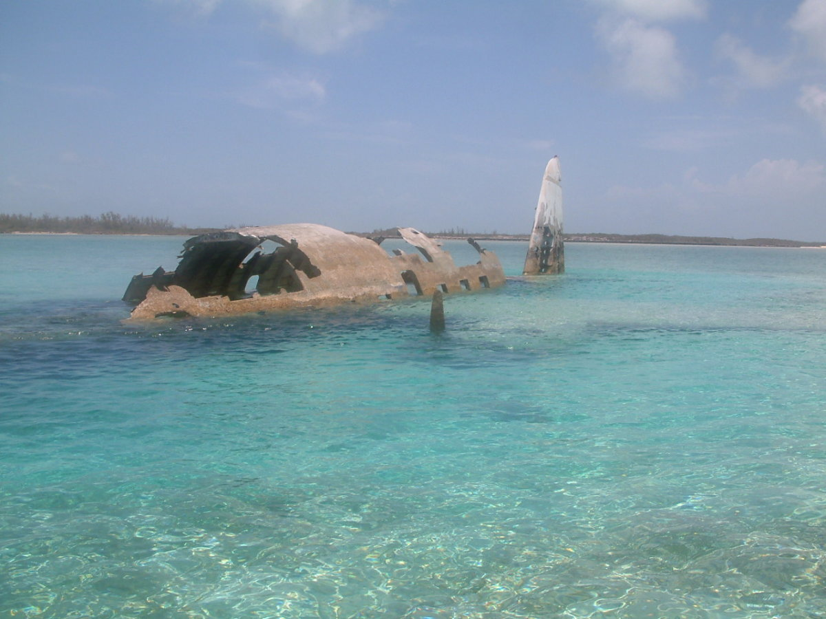 Too heavy plane carrying drugs crashes on Normans Cay. Last attempt to smuggle drugs in by Lehder
