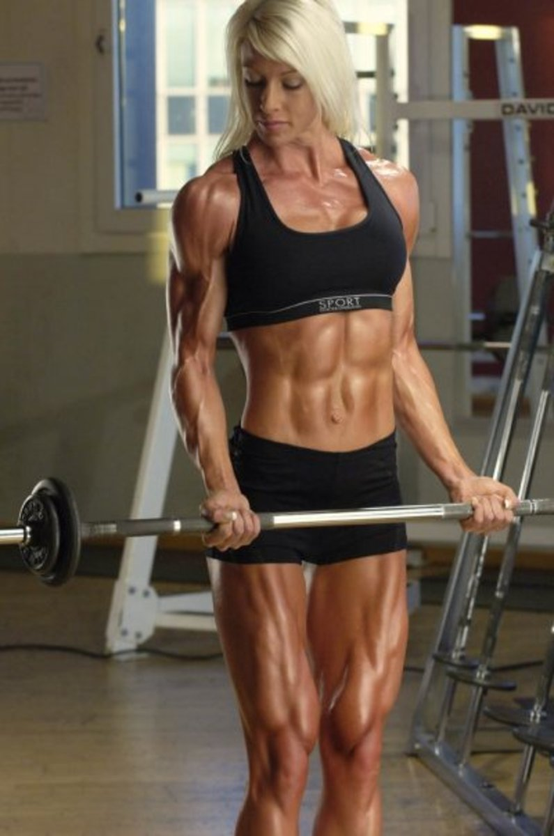 Swedish female bodybuilder Mikaela Strand