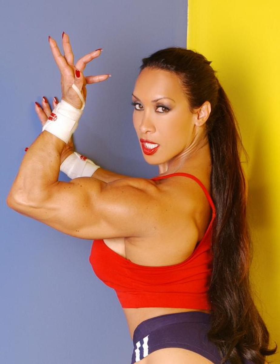 Female bodybuilder Denise Masino