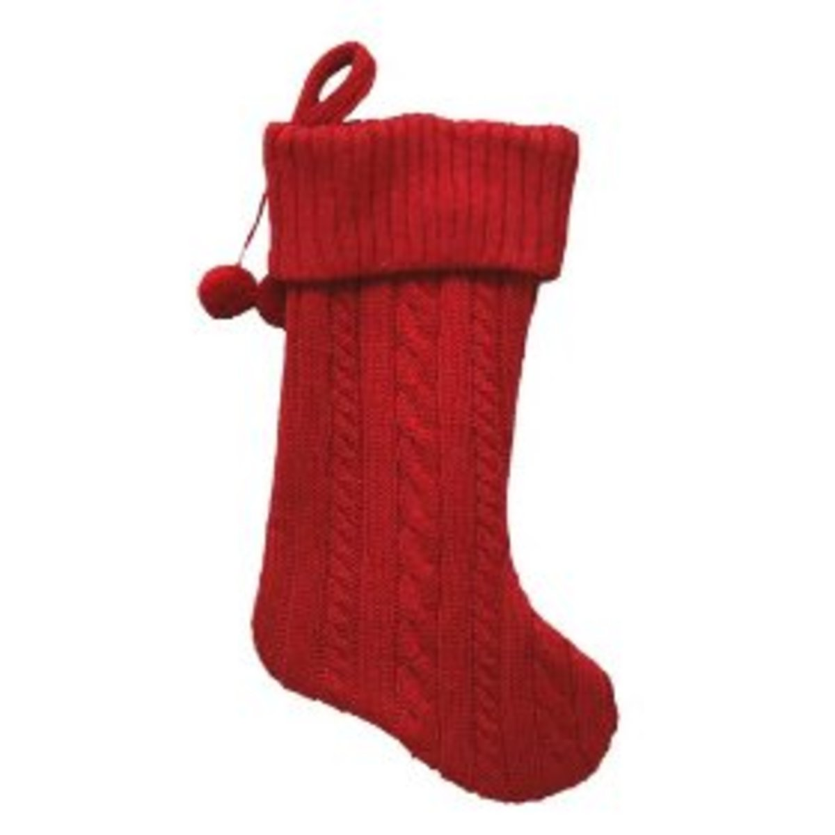 Free Knitting Patterns For Christmas Stockings : Red Christmas Stockings