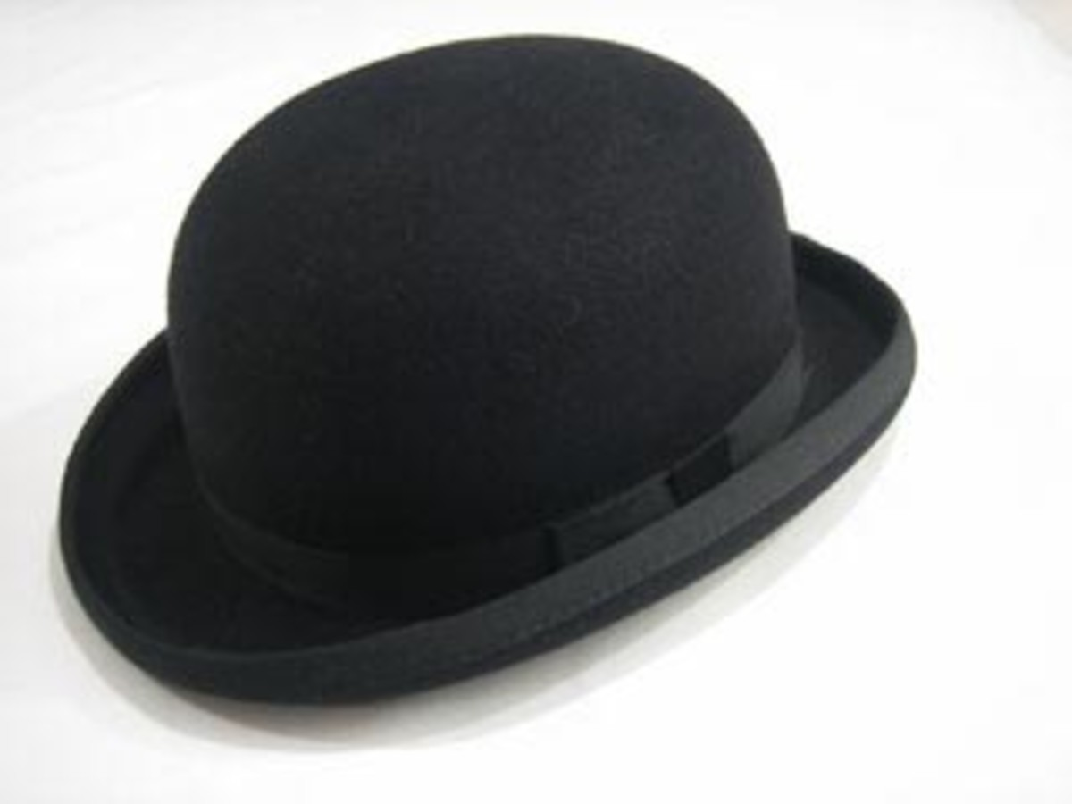 A bowler hat, shortly before ignition