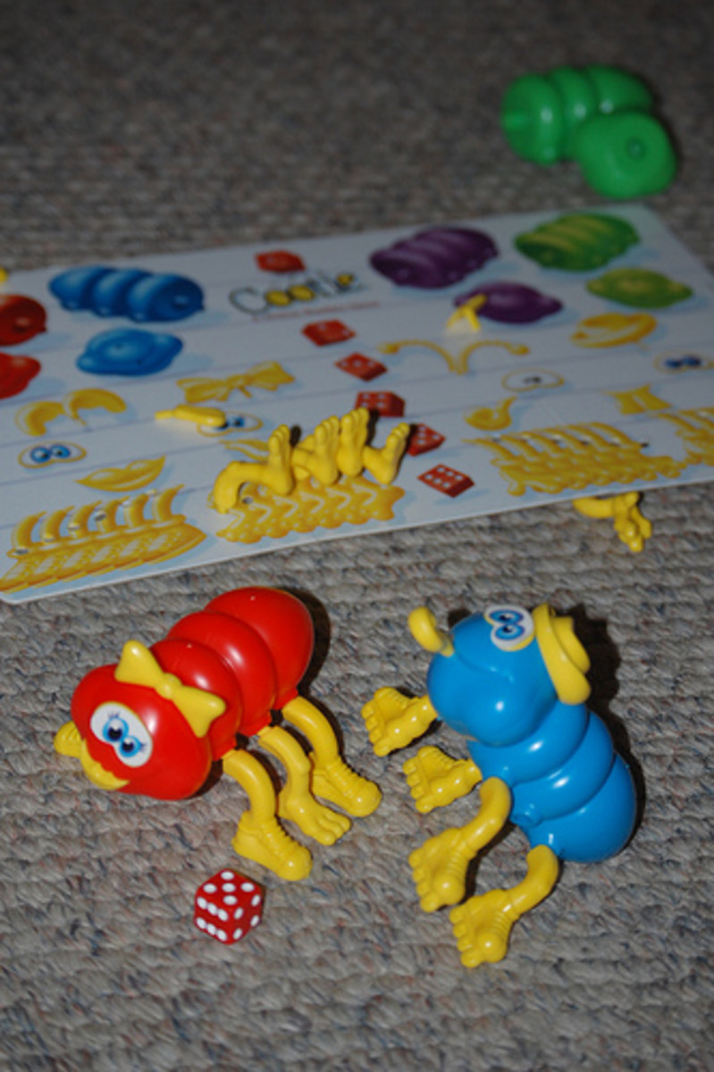 Fine motor manipulation with Cootie.  Photo from Flickr.com.