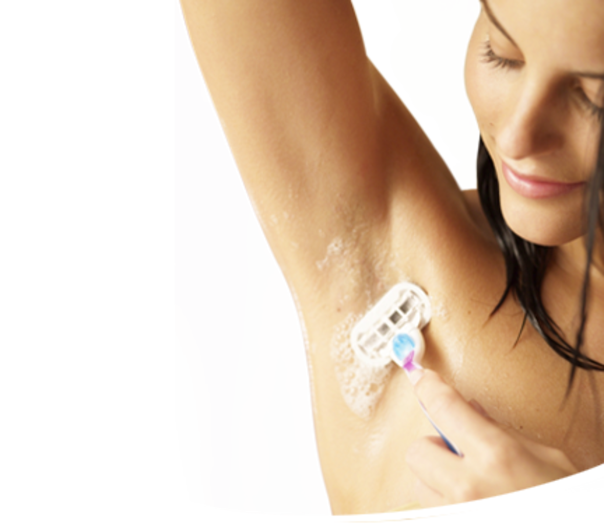 Shaving your underarms can be painful! (image source: www.gillettevenus.com)