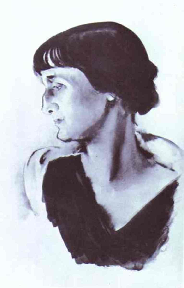 A portrait of the poet by Nikolai Tyrsa
